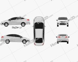 Ford Fiesta Sedan (US) 2012 car clipart