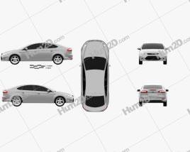 Ford Mondeo sedan 2011 car clipart