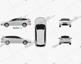 Ford Mondeo wagon 2011 car clipart