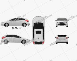 Ford Focus Hatchback Titanium 2012 car clipart