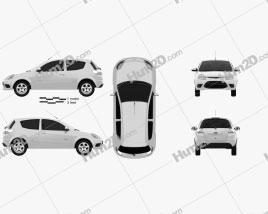 Ford Ka (Brazil) 2012 car clipart