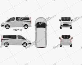 Ford Tourneo Custom SWB 2012 clipart