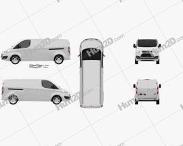 Ford Transit Custom LWB 2012 clipart