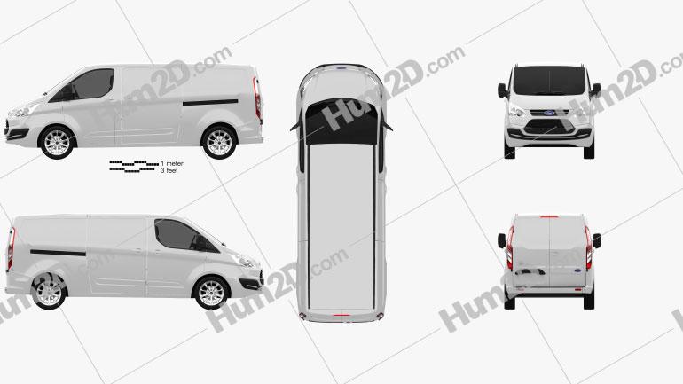Ford Transit Custom LWB 2012 Imagem Clipart