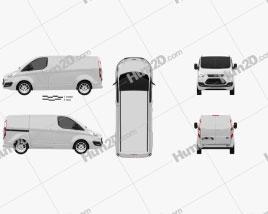 Ford Transit Custom SWB 2012 clipart
