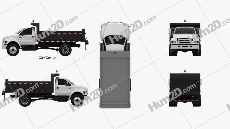 Ford F-750 Dump Truck 2012 clipart