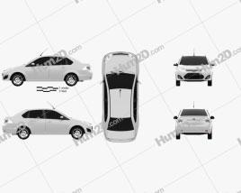 Ford Fiesta Rocam sedan (Brazil) 2012 car clipart