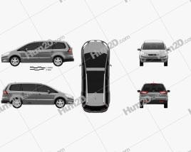 Ford Galaxy (Mk3) 2012 car clipart