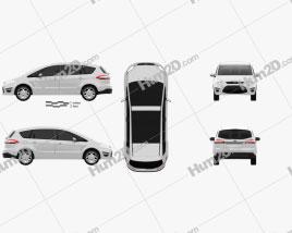 Ford S-Max 2012 car clipart