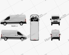 Ford Transit Panel Van LWB 2012 clipart