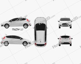 Ford Fiesta hatchback 3-door (EU) 2013 car clipart