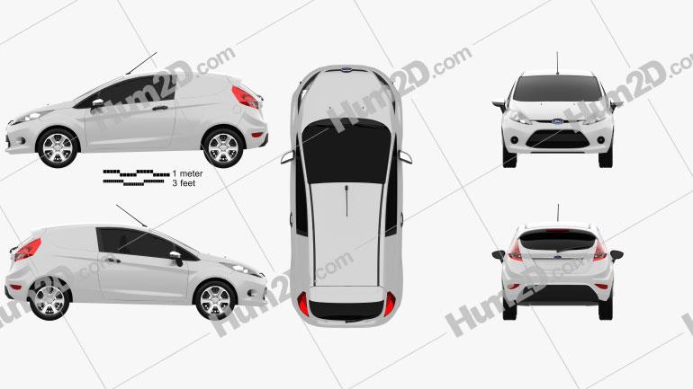 Ford Fiesta Van 2012 clipart