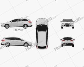 Ford Focus Wagon 2012 car clipart