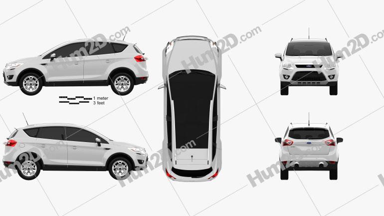 Ford Kuga 2012 car clipart