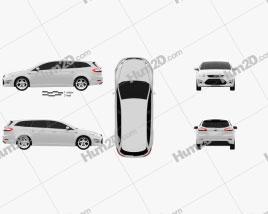 Ford Mondeo Turnier Titanium X Mk4 2012 car clipart