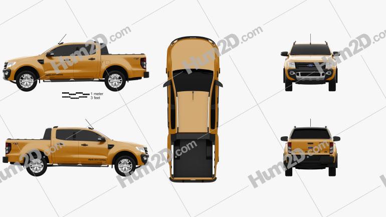 Ford Ranger Wildtrak Doppelkabine 2012 car clipart