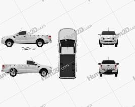 Ford Ranger Single Cab 2012 car clipart