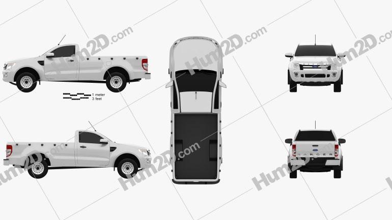 Ford Ranger Einzelkabine 2012 car clipart