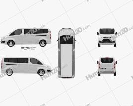 Ford Tourneo Custom LWB 2013 clipart