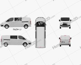 Ford Transit Custom Crew Van LWB 2013 clipart