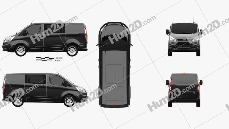 Ford Transit Custom Crew Van SWB 2013 clipart