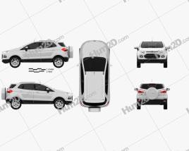 Ford Ecosport Titanium 2013 car clipart