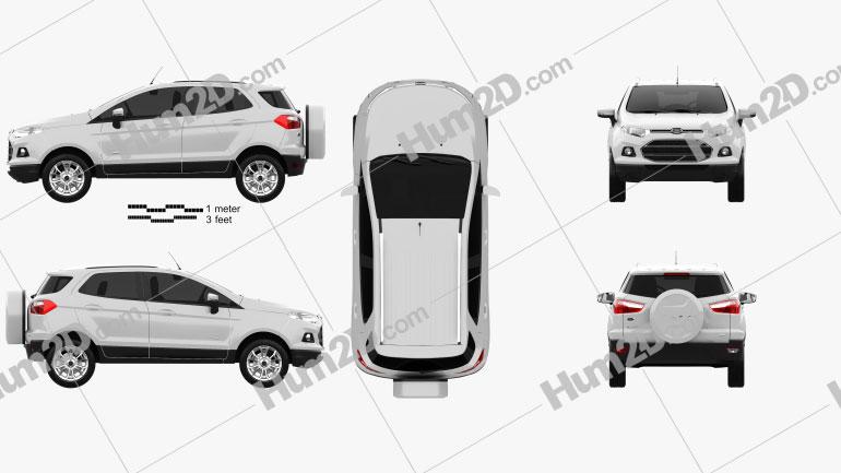 Ford Ecosport Titanium 2013 Clipart Image