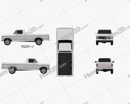 Ford F-150 1973 car clipart