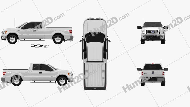 Ford F-150 Super Cab 2011 car clipart