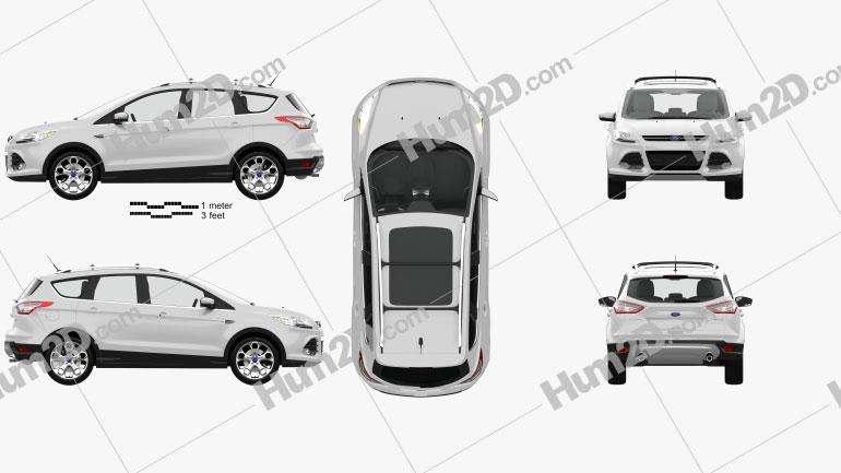 Ford Escape with HQ interior 2013 car clipart