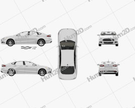 Ford Fusion (Mondeo) com interior HQ 2013 car clipart