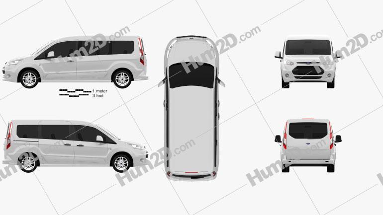 Ford Tourneo Connect 2014 Clipart Bild