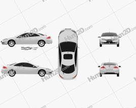 Ford Cougar 2002 car clipart