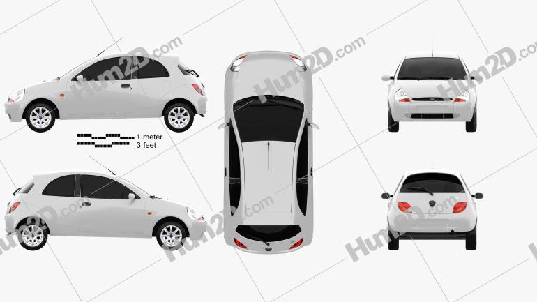 Ford Ka 2003 Clipart Image