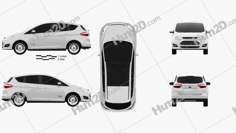 Ford C-MAX Energi 2012 car clipart