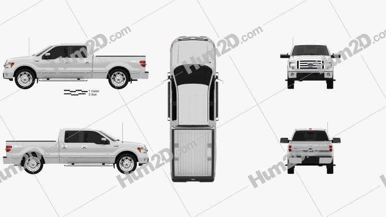 Ford F-150 Platinum Super Crew Cab 2012 car clipart