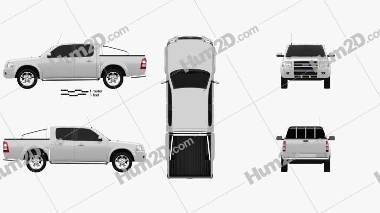 Ford Ranger Doppelkabine 2003 car clipart