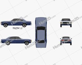 Ford Granada sedan EU 1972 car clipart