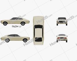 Ford Granada coupe EU 1972 car clipart