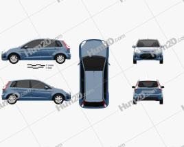 Ford Figo (Ikon Hatch) 2012 car clipart