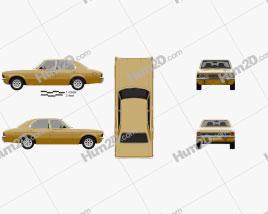 Ford Cortina TC Mark III sedan 1970 car clipart
