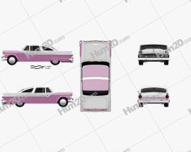 Ford Crown Victoria 1955 car clipart