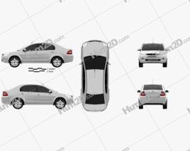 Ford Ikon 2012 car clipart