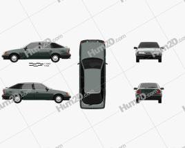 Ford Scorpio hatchback 1985 car clipart