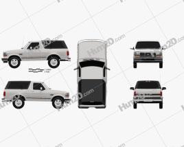 Ford Bronco 1992 car clipart