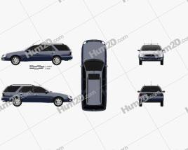 Ford Scorpio wagon 1994 car clipart
