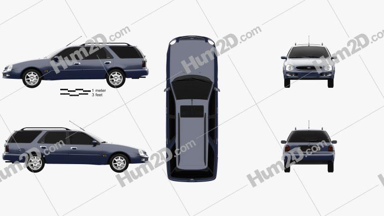 Ford Scorpio wagon 1994 Clipart Image