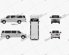 Ford E-Series Passenger Van 2011 clipart