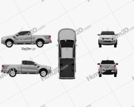 Ford Ranger Super Cab 2011 car clipart
