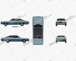 Ford Galaxie 500 fastback 1969 car clipart